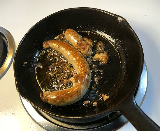 Fried sausage