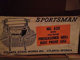 Sportsman grill box label