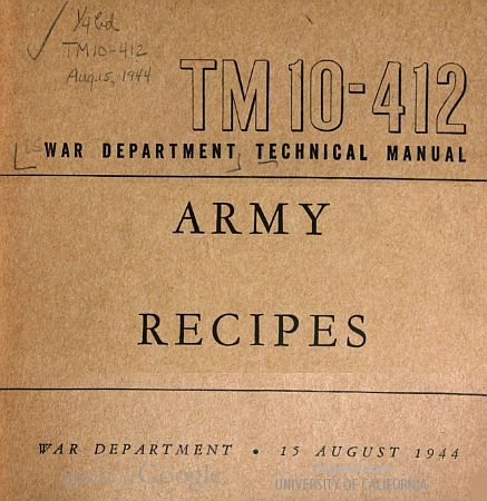 Army Cookbook
